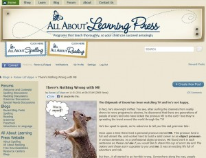 Renee LaTulippe, contributing writer on All About Learning Press language arts blog