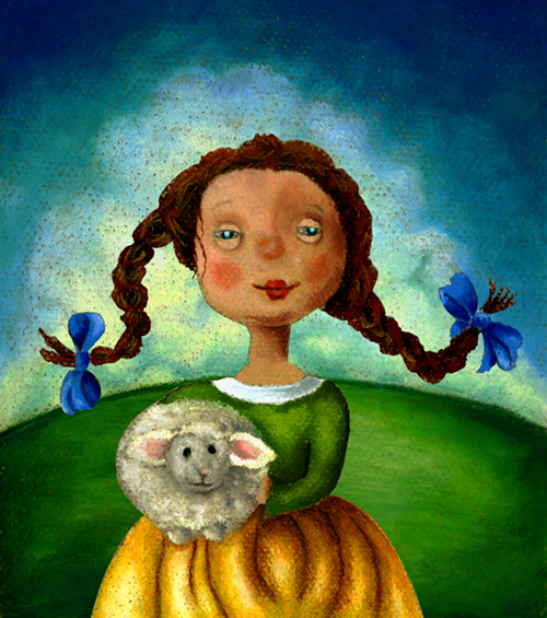 Sheep Girl by Helga Pearson