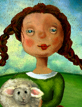 Sheep Girl by Helga Pearson