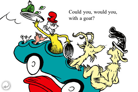 Seuss with a goat