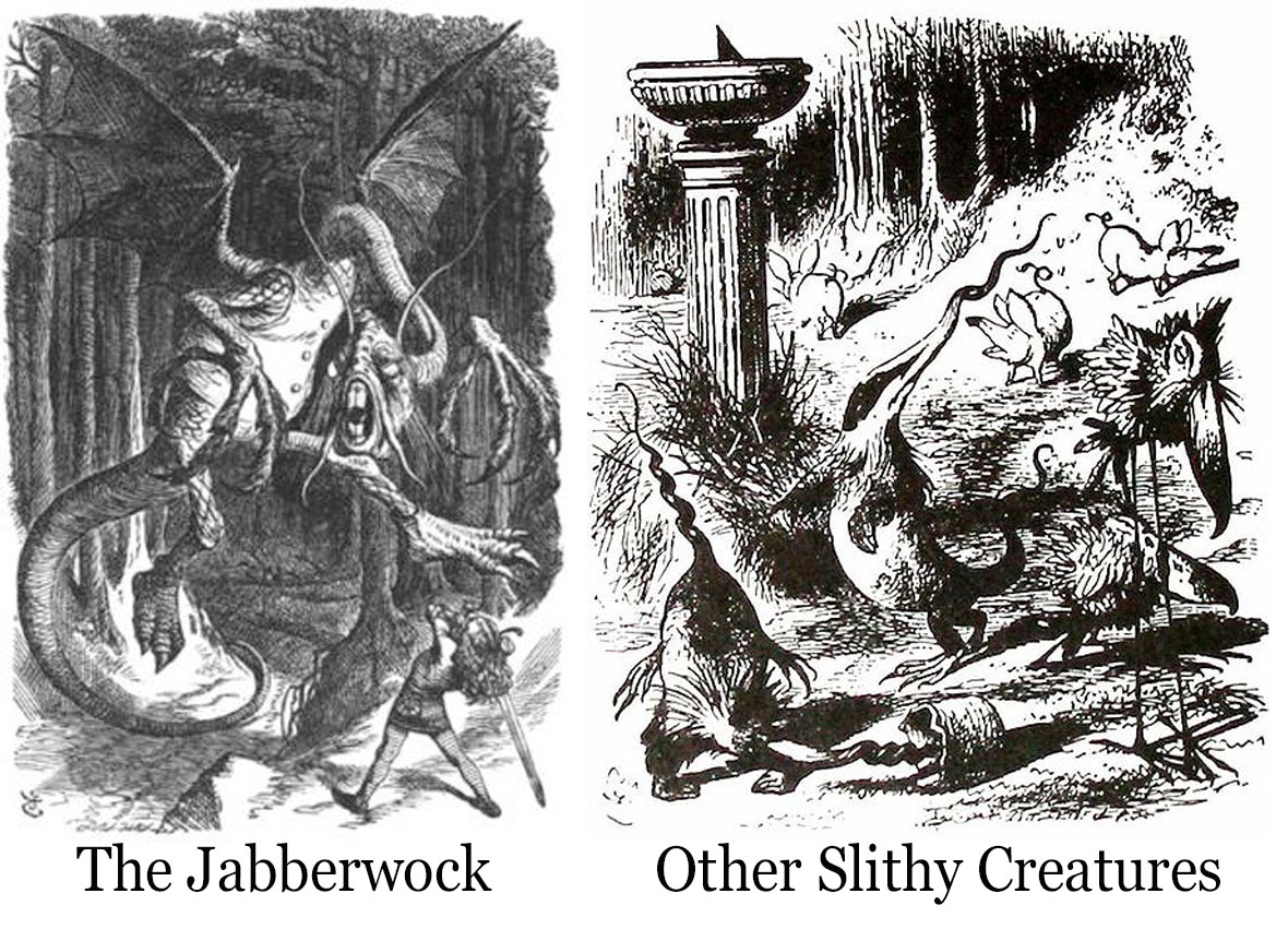 jabberwocky by lewis carroll essay The adventures of lewis carroll  in the poem jabberwocky, carroll uses the combination of words and  a report on architectural determinism anthropology essay.