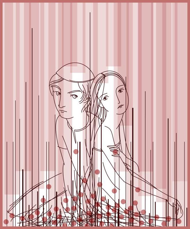 Romeo+Juliet illustration by Julie Rowan-Zoch