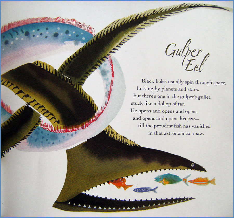 """Gulper Eel"" by Kate Coombs in WATER SINGS BLUE"