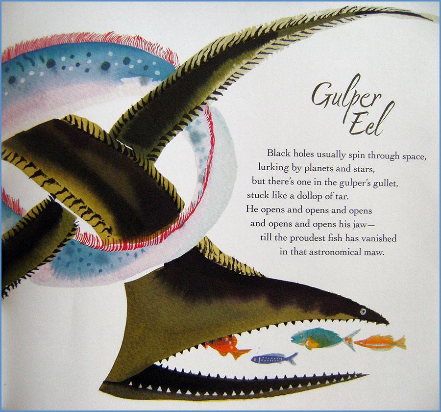 """""""Gulper Eel"""" by Kate Coombs in WATER SINGS BLUE"""