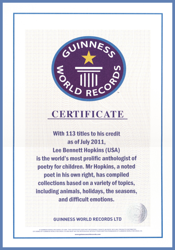 Lee Bennett Hopkins Guinness World Record