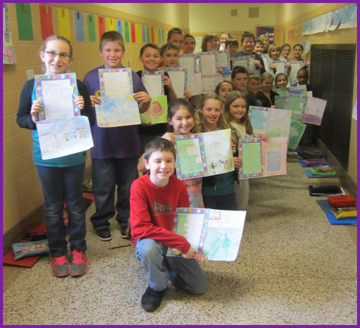Mary Skelly's 4th grade class