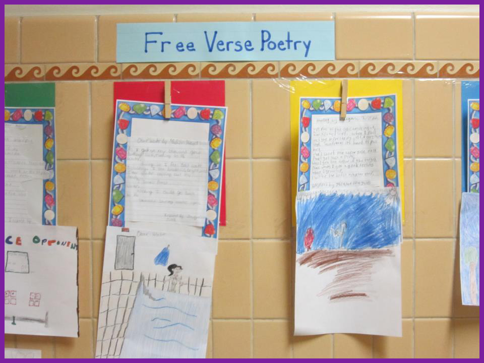 math worksheet : national poetry month the poetry friday anthology for middle  : Free Verse Poetry Lesson Middle School