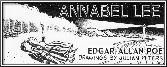 """Annabel Lee"" by Edgar Allan Poe, illustrated by Julian Peters"
