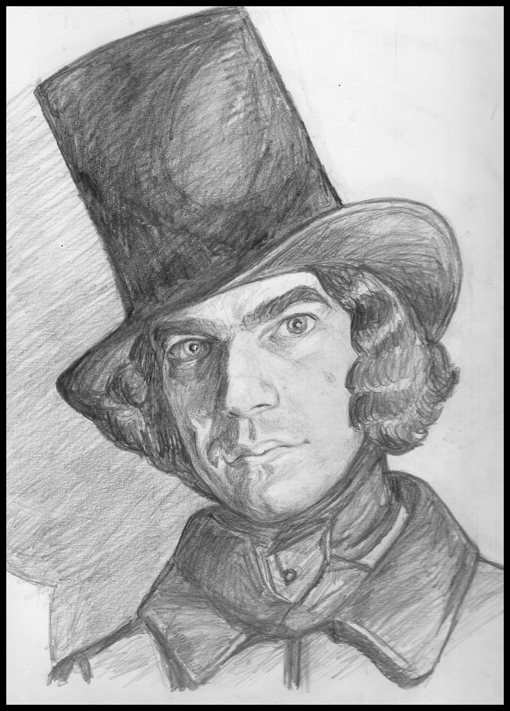 Julian Peters: self-portrait as 1830s dandy