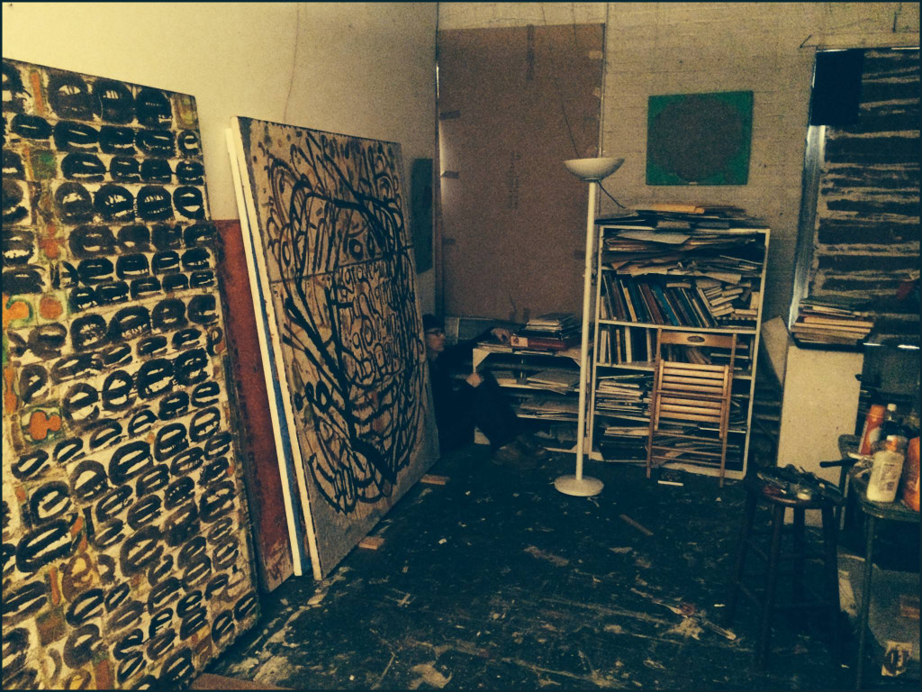Douglas Florian in his studio