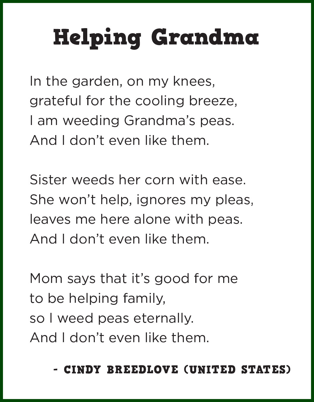 Advise you Poem for granny seems