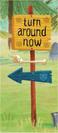 turn around now sign