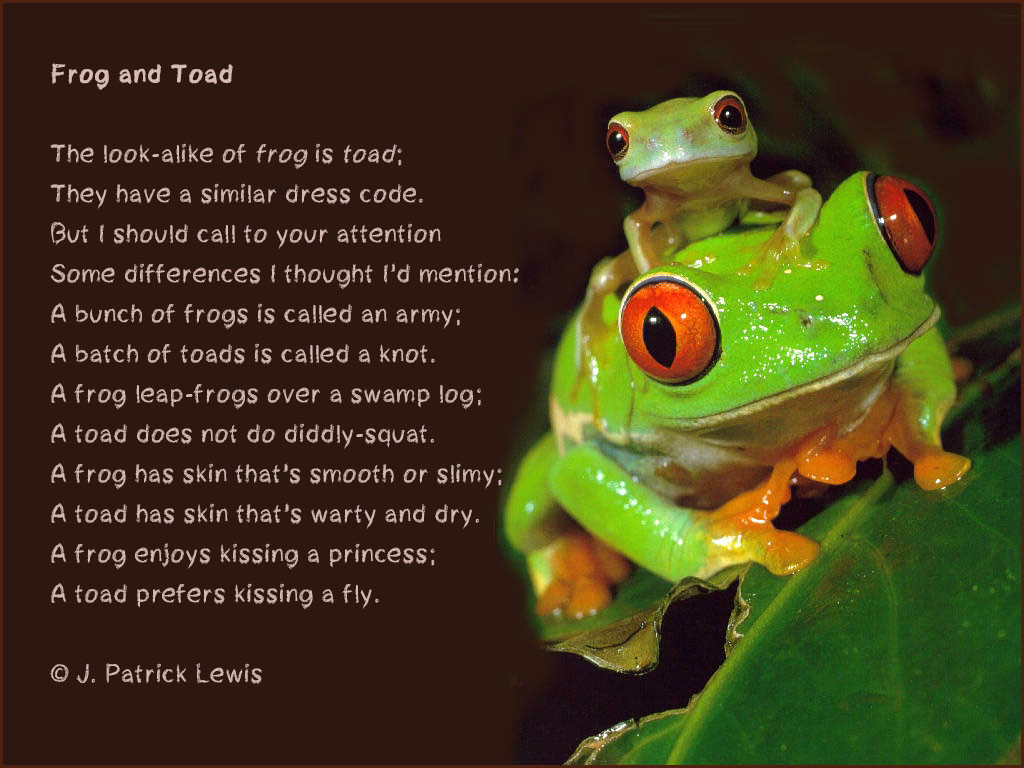 frog and toad-poem