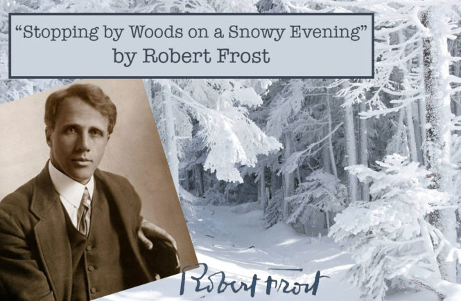 an analysis of the stopping by the woods on a snowy evening by robert frost Stopping by woods on a snowy evening by robert frost whose woods these are i think i know his house is in the village though he will not see me stopping here to watch his woods fill up with snow.
