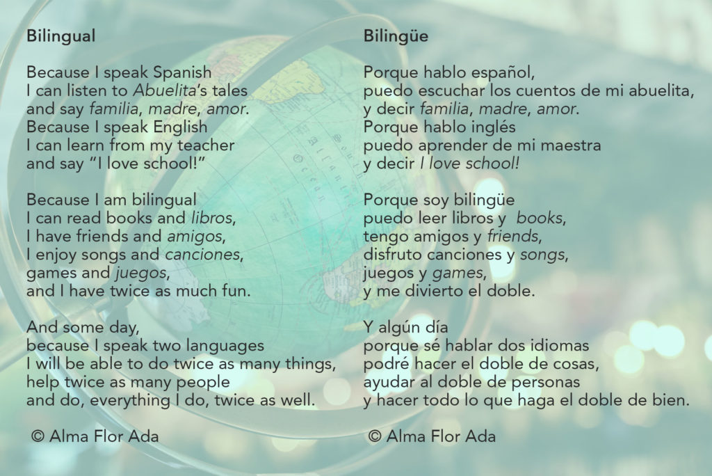 Community Collection 10 Being Bilingual With Alma Flor Ada Renee